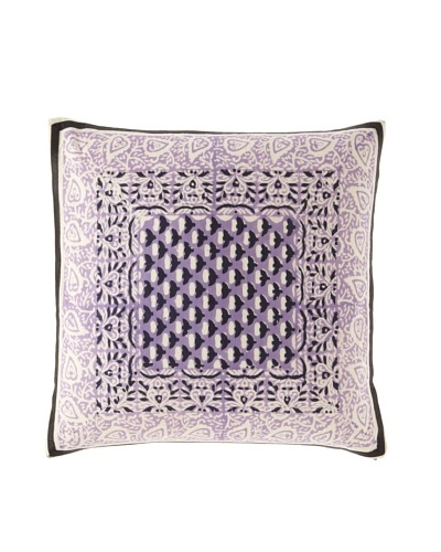 Anna Sui Garden Bud Pillow Cover with Ribbon