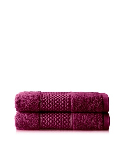 Anne de Solène Gourmandise Set of 2 Guest Towels, Mousse De Cassis, 16 x 24