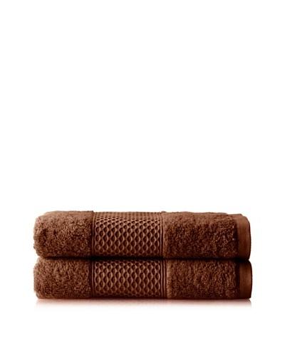 Anne de Solène Gourmandise Set of 2 Guest Towels, Fondant Au Chocolat, 16 x 24