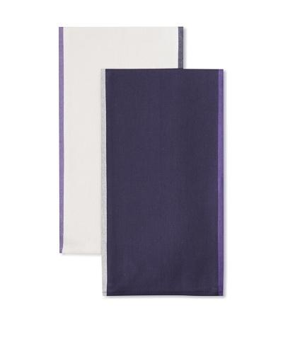 """Anne De Solene Set of 2 Kitchen Towels, Ernest, Beige/Marine, 23""""x30"""""""