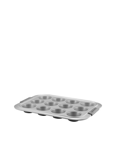 Anolon Advanced Bronze Non-Stick Muffin and Cupcake Pan with Silicone Grips, 12-Cup