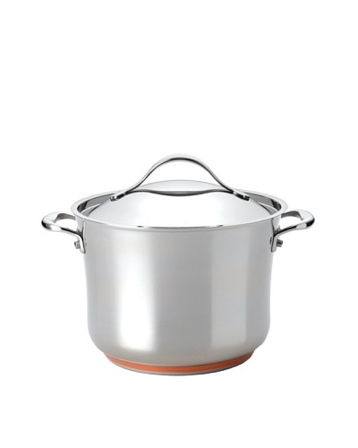 Anolon Nouvelle Copper Stainless Steel 8.25-Qt. Covered Stockpot