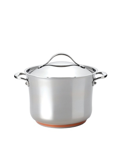 Anolon Nouvelle Copper Stainless Steel Covered Stockpot