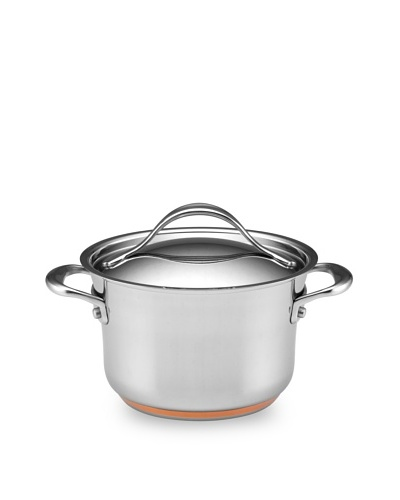 Anolon Nouvelle Copper Stainless Steel 3.5-Quart Covered SaucepotAs You See