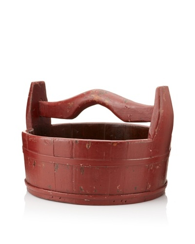 Antique Revival Potpourri Bucket [Red]