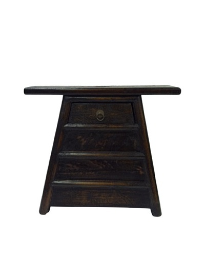 Antique Revival Chinese Barber Stool [Black]