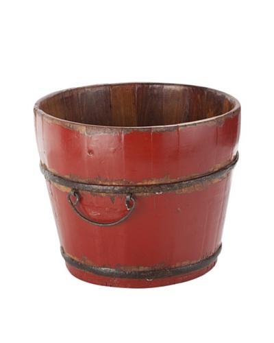 Antique Revival Wooden Sink Bucket