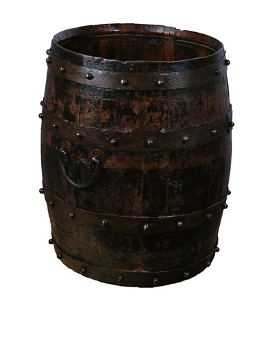Antique Revival Wooden Barrel [Dark Wood]