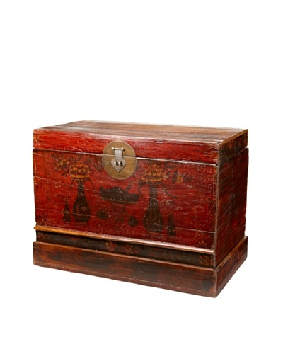 Antique Revival Chinese Lacquered Trunk [Multi]