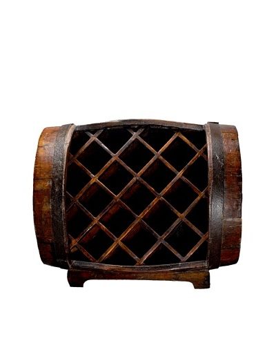 Antique Revival Half-Barrel Wine Rack [Natural]