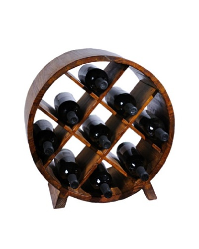 Antique Revival Sectional Wooden Wine Rack