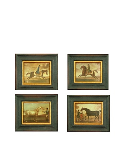 Set of Four Miniature Framed Reproduction Equestrian Prints