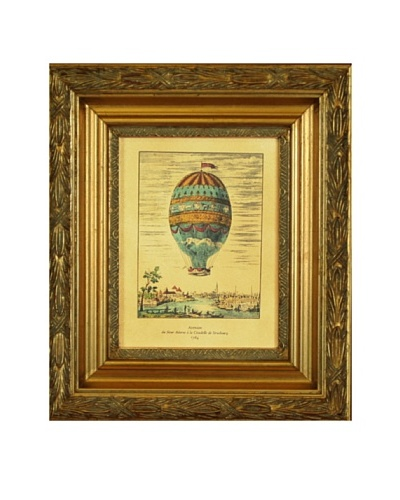 Framed Reproduction French Balloon Print