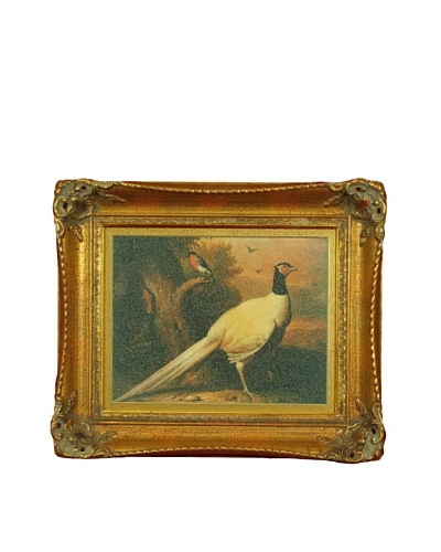 Framed Reproduction Hunting Pheasant Painting