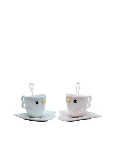 Appletree Design 6-Piece Porcelain Bird Cup Set