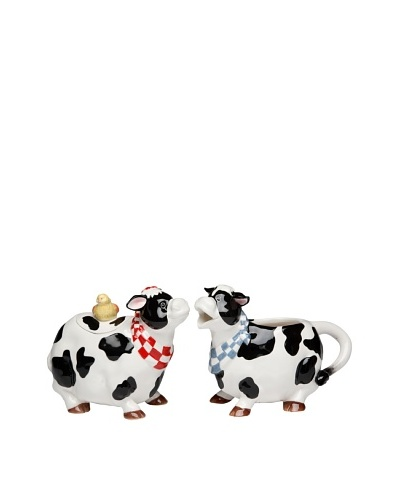 Appletree Design Barnyard Cow Sugar & Creamer Set