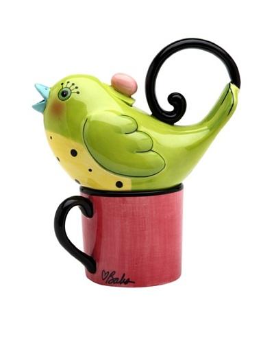 Appletree Design 2-Piece Ceramic Green Bird Tea for One Set