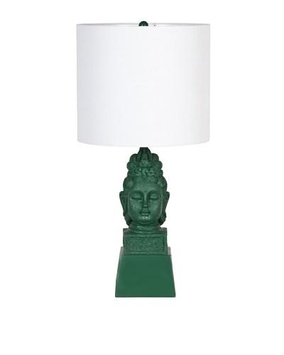 Applied Art Concepts Pokhara Table Lamp, Green/Natural