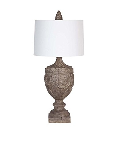 Applied Art Concepts Sutton II Table Lamp, Brown/White