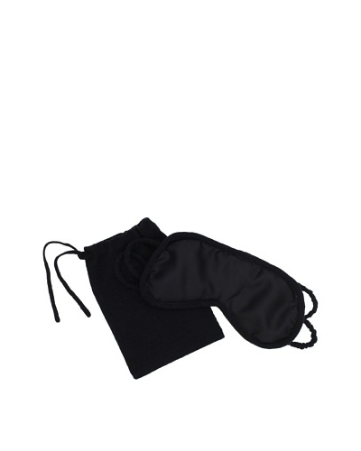a&R Cashmere Eyemask with Bag [Black]