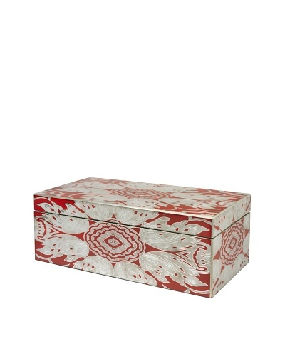 Arcadia Home Tomato Reverse-Painted Mirror Jewelry Box