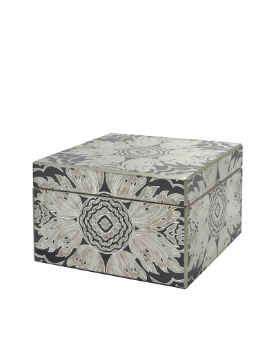 Arcadia Home Midnight Reverse-Painted Mirror Jewelry Box