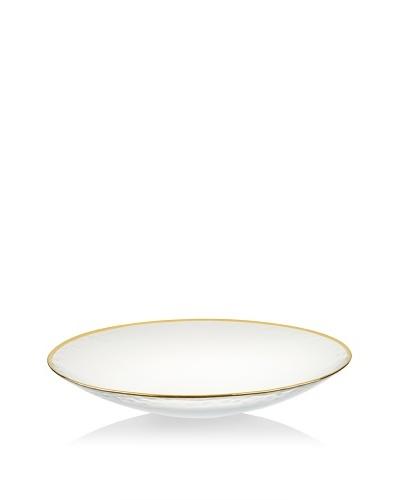Arda Glassware Gilt Shallow Bowl, Gold