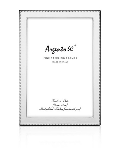 Argento SC Outer Bead Sterling Picture Frame, 4 x 6