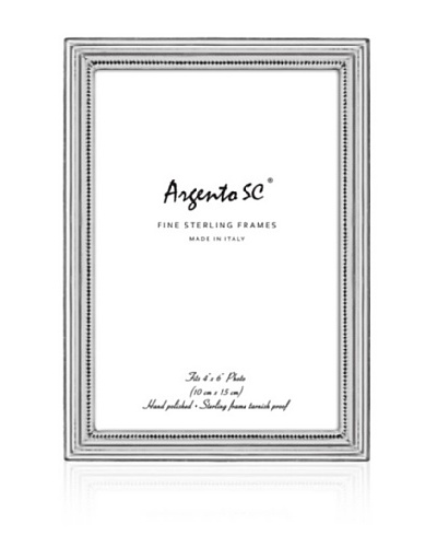 Argento SC Braided Sterling Picture Frame, 4 x 6