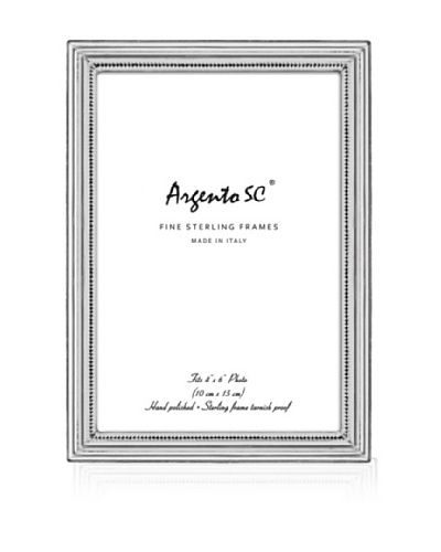"""Argento SC Braid Sterling Picture Frame, Silver, 4"""" x 6"""""""
