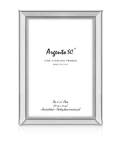 "Argento SC Classic Sterling Picture Frame, 4"" x 6"""