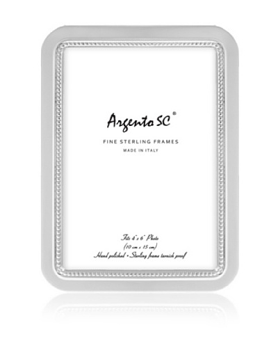 Argento SC Curved Inner Bead Sterling Picture Frame, 4 x 6