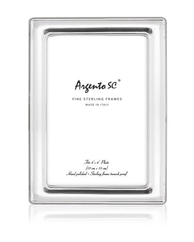 Argento SC Modena Sterling Picture Frame, Silver, 4 x 6