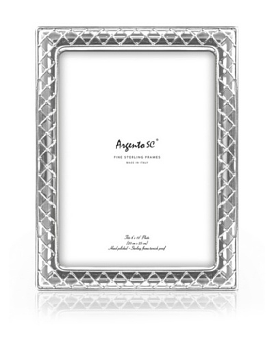 Argento SC Tufted Sterling Picture Frame, 8 x 10
