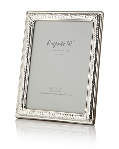 Argento SC Thin Croc Sterling Silver Frame, 5 x 7