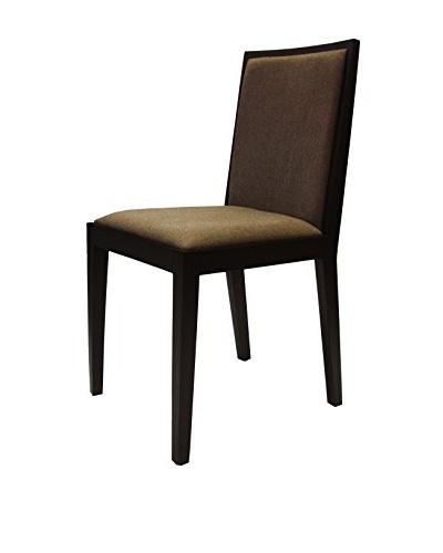 Armen Living Rio Dining Chair Walnut, Chocolate Walnut