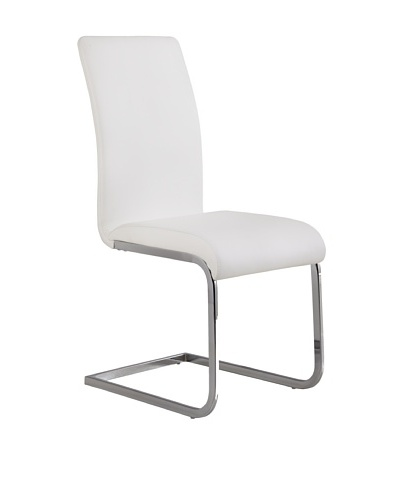 Armen Living Set of 2 Amanda Side Chairs, White