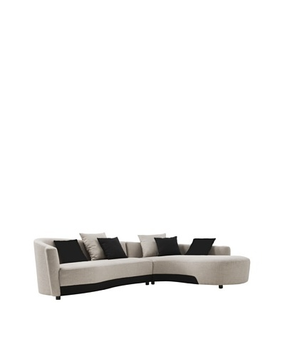 Armen Living Two-Tone Modern Sectional, Right-Facing, Silver