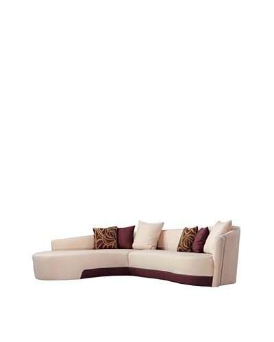 Armen Living Two-Tone Modern Sectional, Left-Facing, Beige