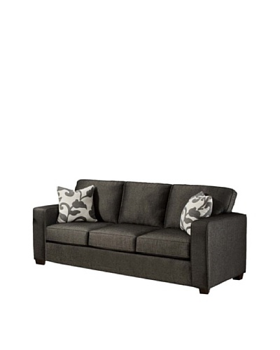 Armen Living Calvin Sofa in Talbot Fabric, Onyx