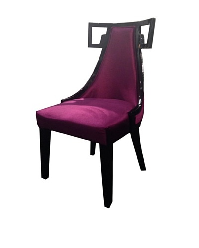 Armen Living Skyline Side Chair, Purple