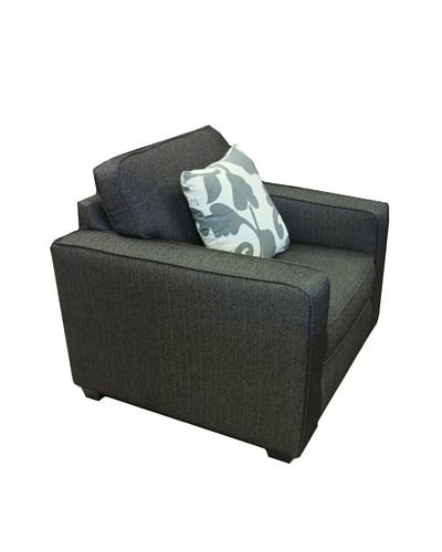Armen Living Calvin Chair in Talbot Fabric, Onyx