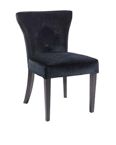 Armen Living Elise Side Chair, Black