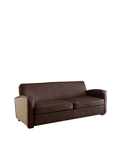 Armen Living Antique Sofa, Brown