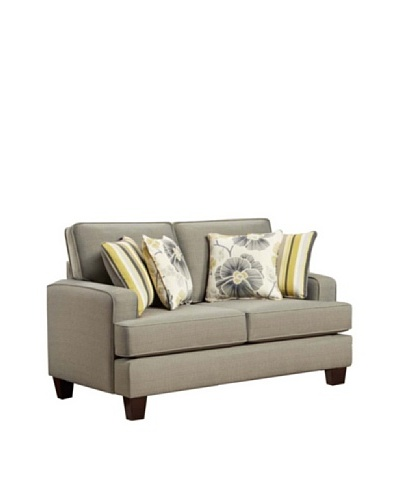 Armen Living Gatsby Loveseat, Smoke