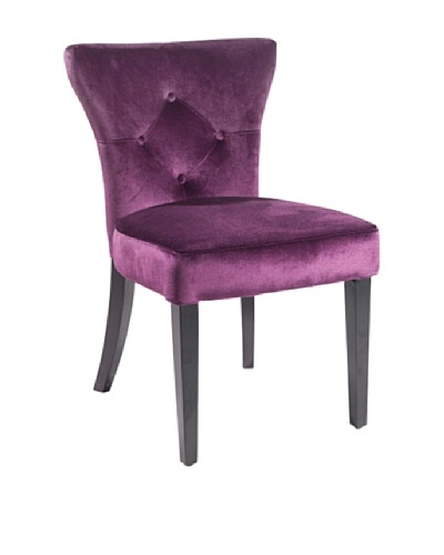 Armen Living Elise Side Chair, Purple