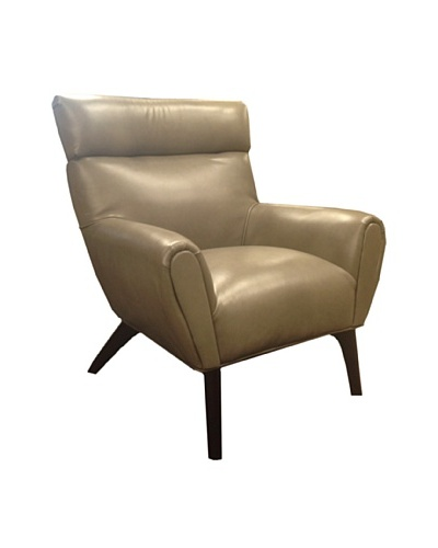 Armen Living Laguna Bonded Leather Chair, Smoke