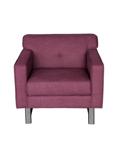 Armen Living Halston Chair, Claret Purple