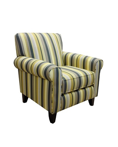 Armen Living Danny Chair in Estrella Fabric, Gunmetal