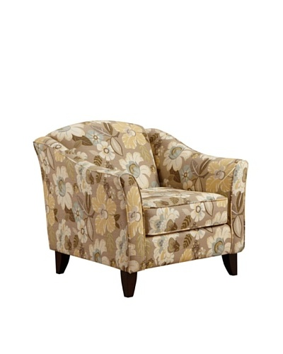 Armen Living Mindy Daintree Fabric Chair, Flax